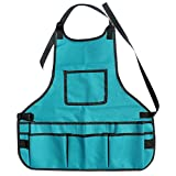 MuLuo 600D Oxford Fabric Waterproof Multi Pockets Adjustable Apron Toolkit Garden Greening Work Clothes Blue