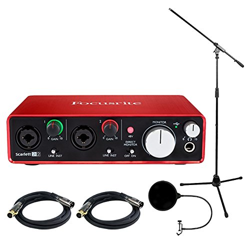 Focusrite Scarlett USB Audio Interface (2nd Generation) includes Bonus Technical Pro Tripod Stand and More by Focusrite