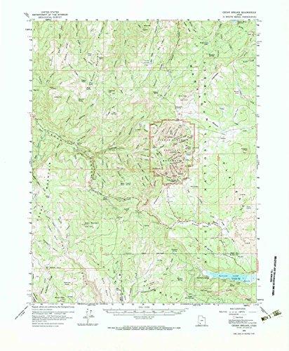 (YellowMaps Cedar Breaks UT topo map, 1:62500 Scale, 15 X 15 Minute, Historical, 1958, Updated 1983, 21.7 x 17.9 in - Paper)
