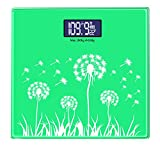 NQFL GWDZX Ultra-thin Weighing Scales Ultra-thin Bathroom Scales Measuring Fat Solid Wood High Precision LED Display,Green-28282.5cm