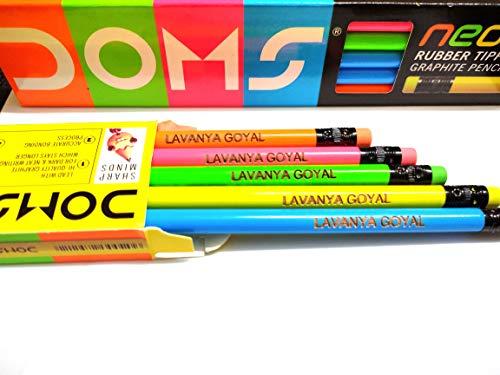 Savri Personalized Pencils Set / Return Gift for Birthday / Personalized Return Gifts (Pack of 3 (30 Pencils))