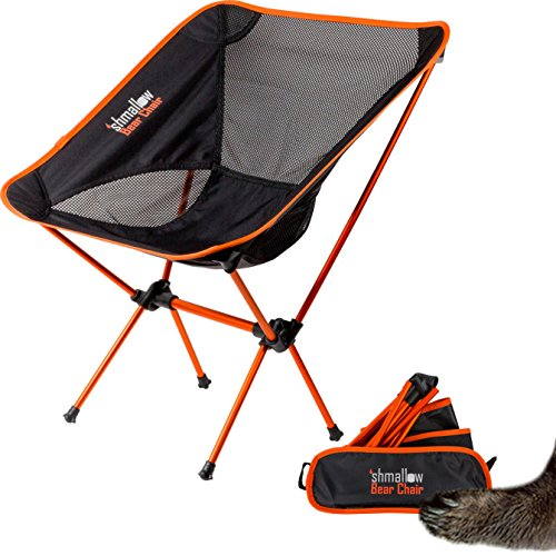 Orange Outdoor Folding Chairs (Folding Camp Chairs with Free Carry Pouch, Lightweight & Portable with Heavy Duty Strength, Best for Camping, Backpacking, Outdoors, Festivals, and the Beach!)
