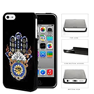 MMZ DIY PHONE CASEHasma Hand Solid Background Series Hard Snap on Cell Phone Case Cover ipod touch 5 (black)