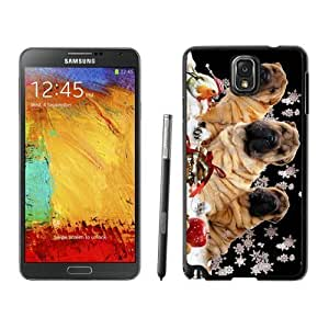 Personalized Hard Shell Christmas Dog Black Samsung Galaxy Note 3 Case 5