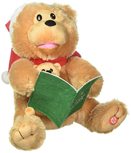 Kurt Adler 10 in. Battery-Operated Story Telling Bear