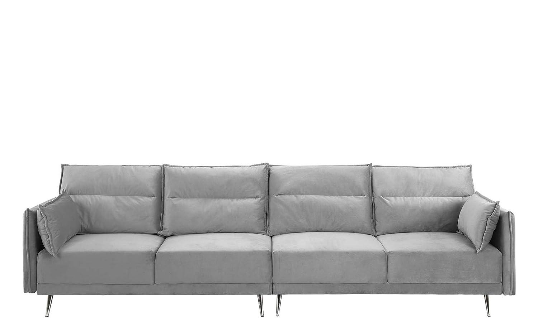 Amazon.com: Sofá tapizado de terciopelo de 11.0 in, Madera ...