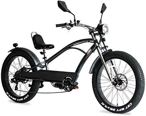 AZBO Electric Bike for Adults 48V 500W Brushless Rear Hub Motor Fat Tire Vintage E-Bike, 26 inch Tire 20 MPH Motorized Bicycle with Shimano Gear