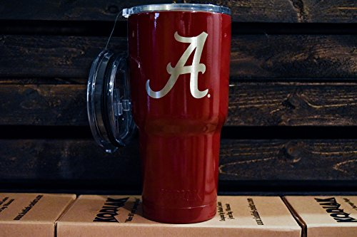 Kodiak Coolers Alabama 30 oz NCAA Engraved Vacuum Insulated Tumbler Two Lids - Stainless Steel Double Wall - Thermal Coffee Travel Cup Rambler Mug - Compare to Yeti & Rtic - Hold Ice Over 24 Hours