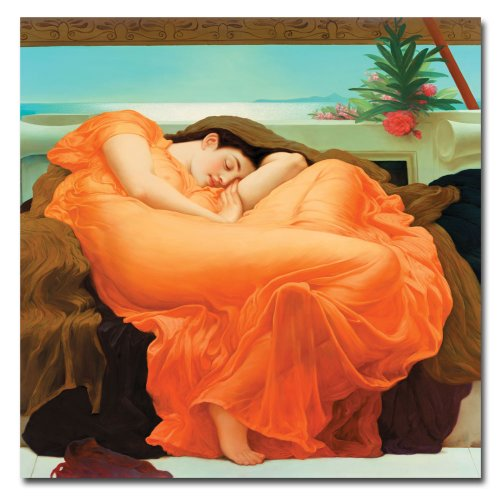 Flaming June by Fredeirck Leighton, 24x24-Inch Canvas Wall Art ()