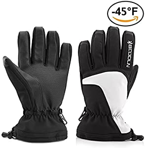 Ski Gloves, waterproof windproof Snow Gloves Mittens for Men Women for Outdoor Cycling Snowboard Snowmobile Hiking Mountain Climbing …