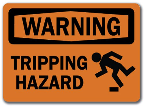 (Warning Sign - Tripping Hazard with Graphic - 10