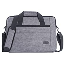 ProCase 13 - 13.5 Inch Laptop Sleeve Tote Bag with Shoulder Strap and Handle for Laptop Ultrabook MacBook Pro Air Chromebook Notebook Computer Acer Asus Dell HP Lenovo Samsung Sony Toshiba -Grey