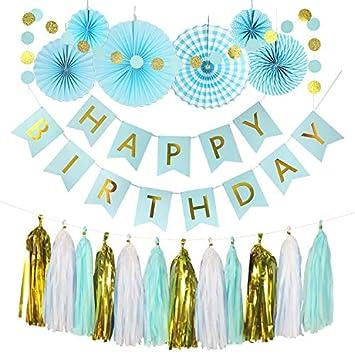 Amazon.com: Kit de fiesta – pancarta de feliz cumpleaños ...