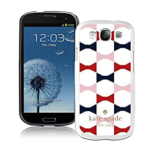Galaxy S3 I9300 Phone Case Kate Spade New York Hardshell Case for Samsung Galaxy S3 i9300 Cover 68 White