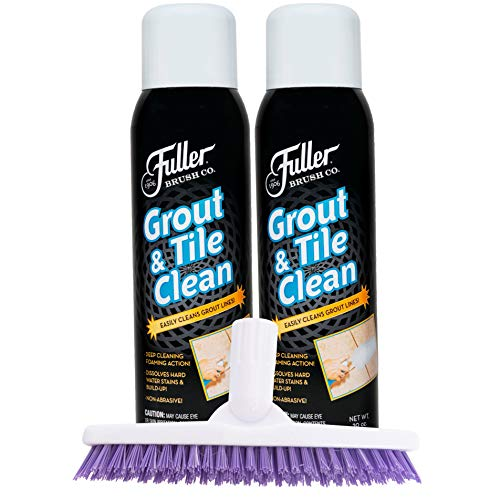 Fuller Brush Grout & Tile Cleaner Set - Heavy Duty Solution for Mold & Mildew for Brushing Bathtub, Tiles & Floor - Clean Sink, Toilet & Bathroom for Home & Business.