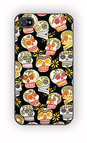 Sugar Skull Pattern Day Of The Dead for iPhone 4/4S Case