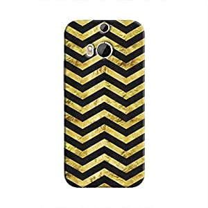 Cover It Up - Gold Black Tri Stripes One M8 Hard case