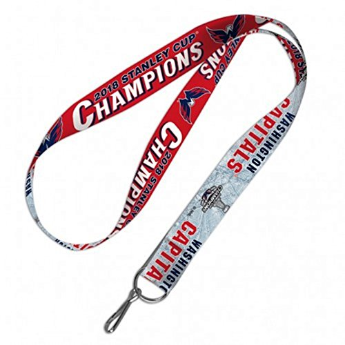 Stockdale Washington Capitals 2018 Champions WC Lanyard Premium 2-sided Keychain with Hook
