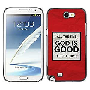 Paccase / Dura PC Caso Funda Carcasa de Protección para - BIBLE God Is Good - Samsung Note 2 N7100