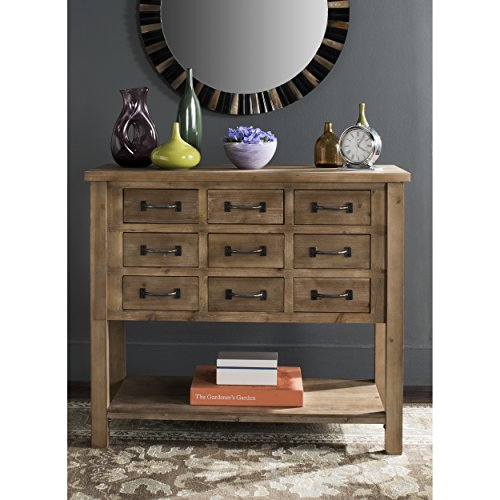 Safavieh American Homes Collection Mendie Natural Oak 9 Drawer Chest