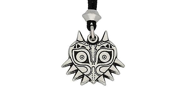Colgante de la Máscara de Majora del Zelda de Estaño Hecha a Mano: Amazon.es: Joyería