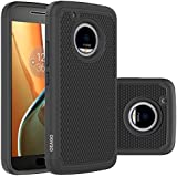 Moto G5 Plus Case, Moto G Plus (5th Generation) Case, OEAGO [Shockproof] [Impact Protection] Hybrid Dual Layer Defender Protective Case Cover for Motorola Moto G5 Plus / Moto G Plus (5th Gen) - Black