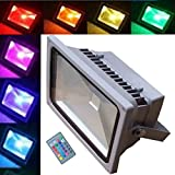 Best Lithonia Lighting Lighting EVER Lighting EVER Lighting EVER Lighting 4 Leds - JYtrend 20W RGB Led Flood Light [Remote Control] Review