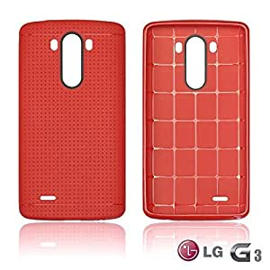 OnlineBestDigital - Colorful Hard Back Case for LG G3 - Red