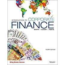 Introduction to Corporate Finance, Fourth Canadian Binder Ready Version