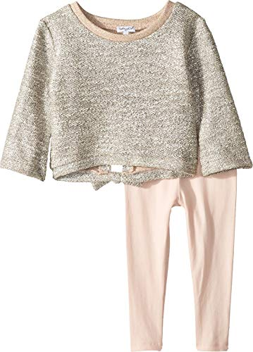 Splendid Girls' Toddler Lurex French Terry Back tie Set, Pale Dogwood, -