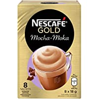 NESCAFÉ Mocha Cappuccino, Instant Coffee Sachets, 8x18g (Pack of 6, 48 Cups)