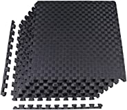 """BalanceFrom 1"""" Extra Thick Puzzle Exercise Mat with EVA Foam Interlocking Tiles for MMA, Exercise, Gymnas"""