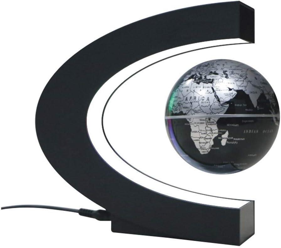 BBT-Shop Floating Globe with LED Lights C Shape Magnetic Levitation Floating Globe World Map for Desk Decoration US//EU//UK//AU Plug US