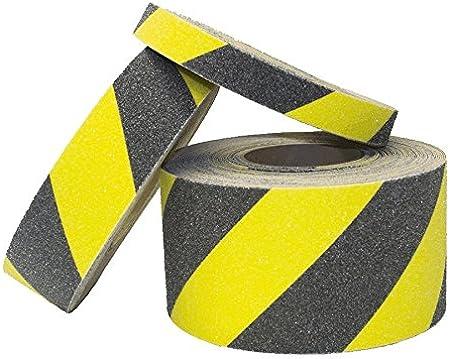 Site Supplies Construction Safety 25mm x 5m Strip, Black Non-Slip Safety Strip Grip Tape ~ Adhesive Backed Floor Steps Anti Slip Tape ~ High Grip