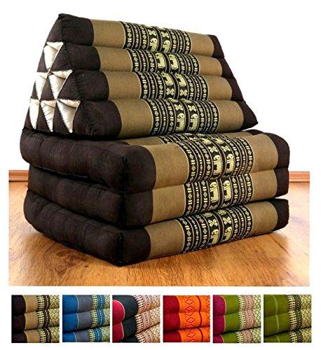 Cojín tailandés de tres pliegues, 177,8 x 50,8 x 7,62 cm ...
