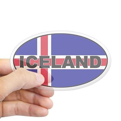 Amazon Com Cafepress Iceland Flag Oval Sticker Oval Bumper