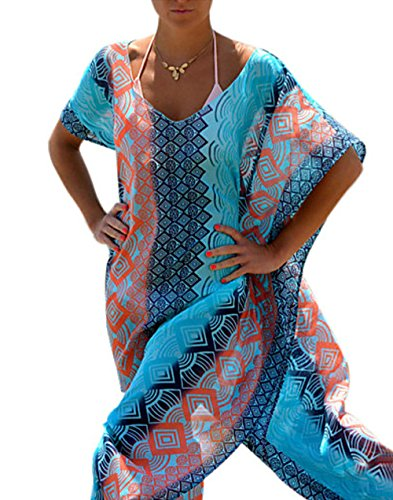 Mr.Easy Women's Sexy Loose Long Beach Cover-Ups, (Normandy Shower Kit)