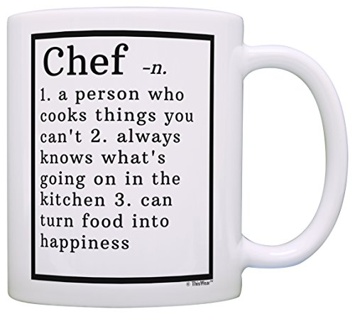 Chef Gifts Chef Definition Gifts for Chefs Culinary School Gift Coffee Mug Tea Cup White