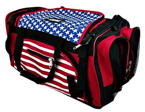 "PROWIN1 US Flag Equipment Bag Taekwondo, Karate, Martial Arts Mesh Gear Bag MMA, Boxing, Travel Bag - 22""/24""/27"" L (USA Flag, 24"" L)"