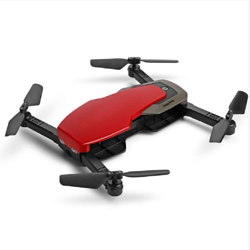 SEXTT Faltdrohne optischer fluss positionierung luftdrohne WiFi Karte übertragung luftdruck fixiert Vier-achs-flugzeugmodell Headless-Modus mit licht,Weiß rot