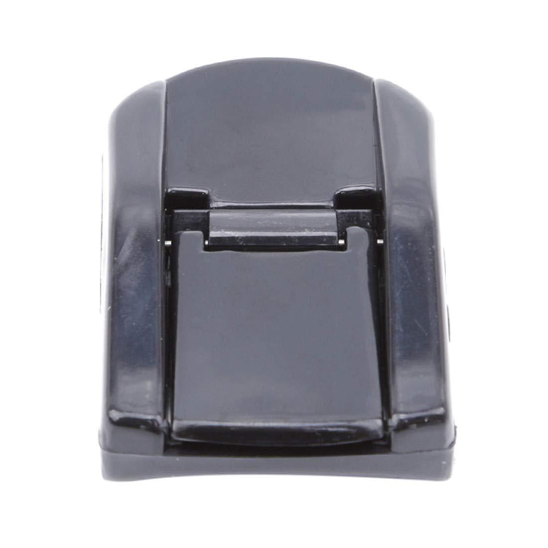 VWH Black Eyelash Curler Portable Plastic Eyelash Curler Curling Natural 3D Fiber Eyelash Applicator Eye Makeup Tool