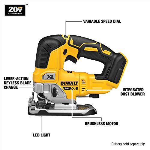 DEWALT DCS334B 20V Max Brushless Jig Saw Tool Only