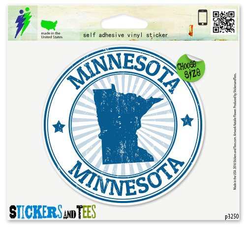 Minnesota Vinyl Car Bumper Window Sticker 2