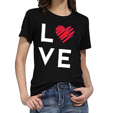 b3afb45ec Fitfulvan Womens Printed Round Neck Short Sleeve Cute T Shirt Junior Tops  Teen Girls Graphic Tees