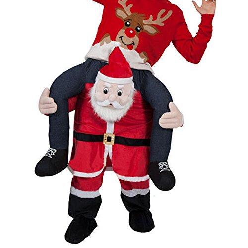 Unisex Ride On Riding Shoulder Adult Costume,Santa Costume -