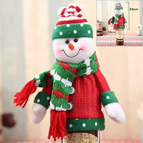 Hakazhi Inc Christmas Decoration 2018 Santa Claus Wine Bottle Cover Gift Santa Sack Bottle Hold Bag Snowman Xmas Decor Home Decoration (Style 14)