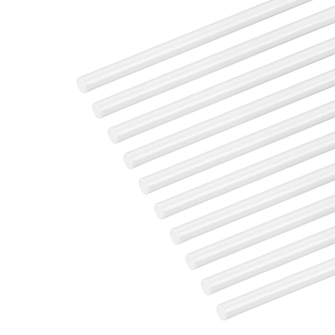 sourcing map 1mm /× 20 ABS Plastic Round Bar Rod for Architectural Model Making DIY White 4pcs