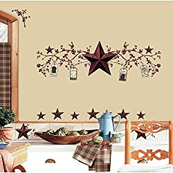 RoomMates Country Stars & Berries Peel and Stick Wall Decals