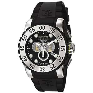 Invicta Men's 6660 Reserve Collection Leviathan Chronograph Black Polyurethane Watch