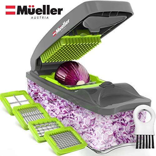 Mueller Chopper Multi-Blade Pro Series – Strongest – NO MORE TEARS 40% Heavier Duty Multi Vegetable-Fruit-Cheese-Onion Chopper-Dicer-Kitchen Cutter